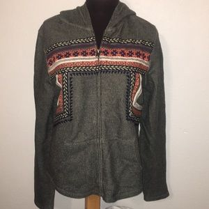 Lucky Brand Lotus Knit Hoodie size XL